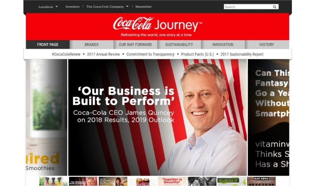 The Coca-Cola company blog